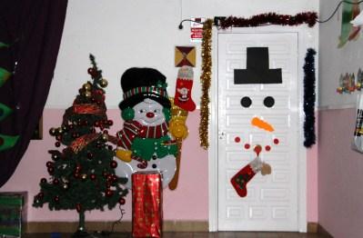 Decoración navideña en guardería (Madrid)