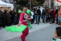 Danza tradicional con abanicos (Feria del Año Nuevo Chino)