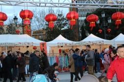 Farolillos rojos (Feria del Año Nuevo Chino)